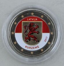 2 Euro Lettland 2017 Kurzeme / Kurland in Farbe unz.