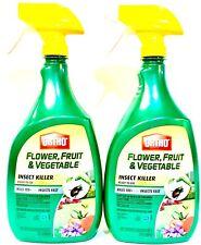 2 Bottles Ortho 32 Oz Flower Fruit & Vegetable Insect Killer Ready To Use Spray
