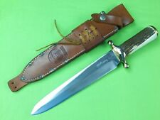 """1978 Custom Made """"RUDY"""" R.H. RUANA Model 42D """"M"""" Marked Spear Point Bowie Knife"""