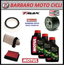 KIT TAGLIANDO YAMAHA T-MAX 500 2008 2009 2010 2011 OLIO MOTUL 5100 10W40 FILTRI