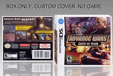 NINTENDO DS : ADVANCE WARS DAYS OF RUIN. ORIGINAL BOX. UNOFFICIAL COVER. NO GAME
