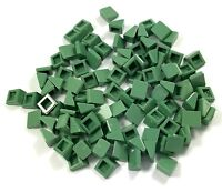 Lego Lot of 100 New Sand Green Slopes 30 1 x 1 x 2/3 Sloped Pieces