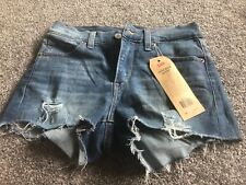 """NEW WITH TAGS- LEVI'S STRAUSS HIGH RISE SHORT CUT OFF DENIM SHORTS LADIES 24"""""""