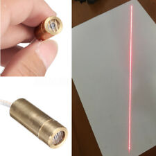 DIY 9X23MM DC 3V 650nm 5mW Brass Line Laser Dot Diode Module Head Red Light MY