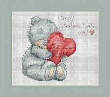 Valentine Teddy Cross Stitch Kit - Luca-s (16cm x 14cm) B120