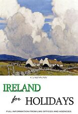 Travel Ireland for Holidays Galway Paul Henry Poster