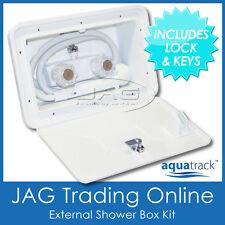 EXTERNAL SHOWER BOX KIT WITH LOCK & KEYS - Boat/Marine/Deck/Caravan/Motorhome/RV