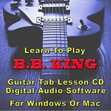 BB KING Guitar Tab Lesson CD Software - 20 Songs