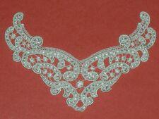 "Ivory venise lace yoke embroidered applique 7 6/8"""