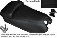 BLACK STITCH CUSTOM FITS HYOSUNG GRAND PRIX 125 DUAL LEATHER SEAT COVER