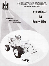 Cub Cadet Model 1A Rotary Tiller Operator and Setting Up manual 1-084-105-R1