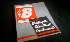 Vintage 1946 Burlington Electrical Instruments Gauge Catalog AC DC Transformers