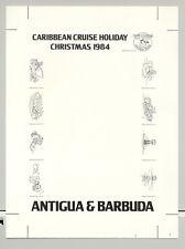 Antigua 1984 Disney Christmas 1v Chromalin Proof of M/S Background