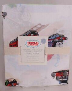 Pottery Barn Kids Thomas the Train & Friends organic toddler duvet cover