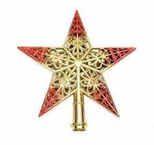 Xmas Shiny Tree Star Topper Decorations Star Gold/Red