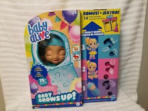 NIB HASBRO BABY ALIVE BABY GROWS UP BONUS PACK 14  PARTY SURPRISES AGES 3+ NEW