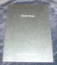 Joseph Beuys  ART EXHIBITION CATALOGUE
