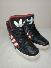 Adidas High Tops , Large Spell Out,  Leather/synthetic upper Size 10US