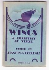 WINGS A QUARTERLY OF VERSE Spring 1942 - poem by Clark Ashton Smith.