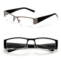 Rectangular Half Metal Frame Reading Glasses Urban Readers Optical HQ Eyewear