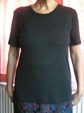 Jean Muir Essentials New Top Medium - Black Short Sleeves 1990's