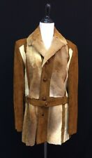 ROBERT LEWIS Vtg Kangaroo Fur Pony Hair Suede Warm Western Jacket Coat 36 EUC M