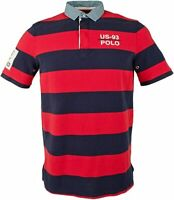 POLO RALPH LAUREN Men's Classic Fit Rugby Cp-93 Polo Shirt Red Navy 710702362002