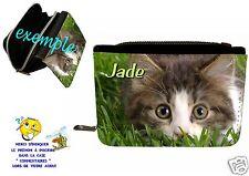 portefeuille chat  personnalisable avec prénom réf 39