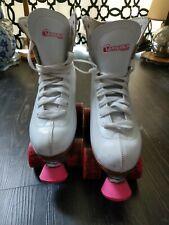 Classic Chicago White Quad Rink Skates Women Size 8