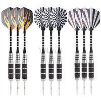 3Pcs Professional Steel Target Throwing Tip Darts Set With Dart Flights 22g