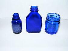 Vick's  &   Neil's  Yard  Cobalt   Blue  Jar  &  Bottle  Plus  One  Other Bottle