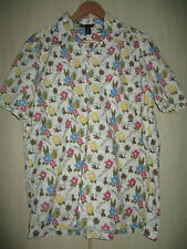 mens H&M COTTON FLORAL BEACH PALM TREE HAWAIIAN STYLE SHIRT SIZE LARGE