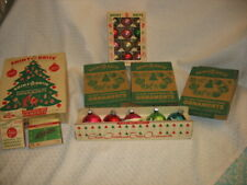 New ListingVintage Shiny Brite Glass Christmas Ornaments Colorful Striped Frosted Lot 61