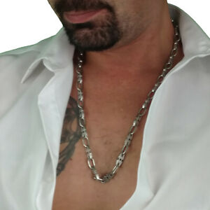"""Rochet Mens Chain Necklace Axe Stainless Steel Performance 26"""""""