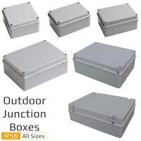 Weatherproof IP56 Rated Junction Box Adaptable Outdoor Exterior Garden All Sizes