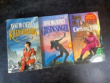 COMPLETE SET of (3) ANNE MCCAFFREY Science Fiction Books CRYSTAL SINGER SERIES