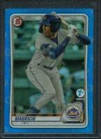 2020 Bowman 1st Edition BLUE Foil  #BFE-28 Ronny Mauricio Mets Rookie #d 130/150