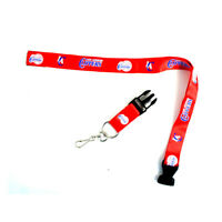 """New NBA Los Angeles Clippers Red Break away 23"""" Lanyard Keychain ID Holders"""