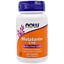 2 Bottles, Now Foods, Melatonin, 3 mg, Total 120 Caps