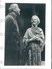1978 Wire Photo Actors Anthony Quayle & Mary Martin in Do You Turn Somersaults