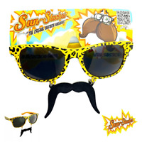 [NEW] Leopard Print Moustache Glasses Stag Hen Holiday Funny Party Tropical Gift