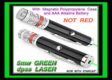 Green Laser Pointer using Quantum Single AAA included w/starcap+magnetic case