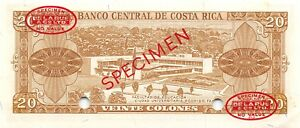 Costa Rica  20 Colones  ND. 1964  P 231s  Series  B  Uncirculated Banknote