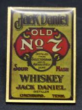 alte Anstecknadel Pin Anteck Nadel Jack Daniels Gold No7 Whiskey [20-1-Box 2