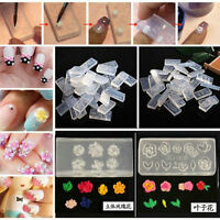 6pcs Fashion Nail Art DIY Decoration Design Silicone Durable 3D Acrylic Mold New