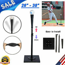 "26"" - 38"" Portable Heavy Duty Baseball Softball Stand Batting Tee Training Aid"