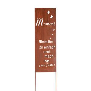 Gartenstecker Gartenschild Edelrost Roststecker Metall Schild Spruch Groß