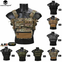Emerson MK3 Modular Light weight Chest Rig Micro Fight Chassis w/ 5.56 Mag Pouch