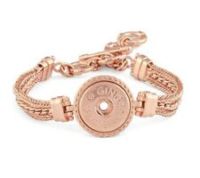 GINGER SNAPS™ 1 Snap ROSE GOLD TONED MULTI CHAIN BRACELET