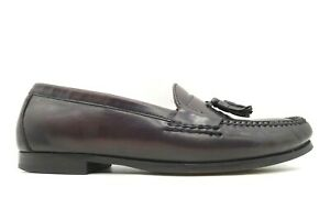 Cole Haan Air Burgundy Leather Tassel Slip On Loafers Shoes Men's 11.5 M